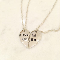 "New Style Wild Ones! "" 2pc Friendship Necklace. Next Day Shipping Offer"