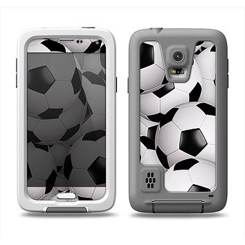 The Soccer Ball Overlay Samsung Galaxy S5 LifeProof Fre Case Skin Set