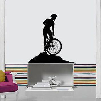 Wall Stickers Vinyl Bike Biker Extreme Sport Decor For Living Room Unique Gift (z1689)