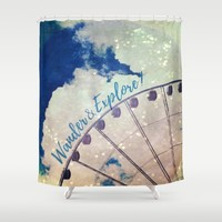 Wander & Explore Shower Curtain by RDelean
