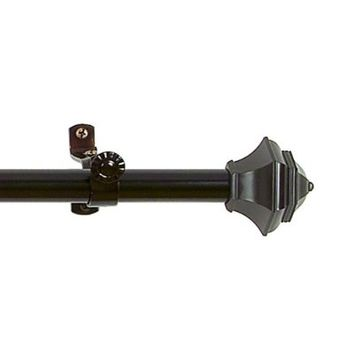 Achim Home Furnishings Buono II Jordan Curtain Rod with Finials, 28-Inch Extends to 48-Inch