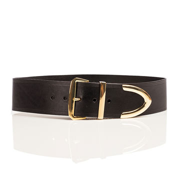 Wide Metal Tip Waist Belt