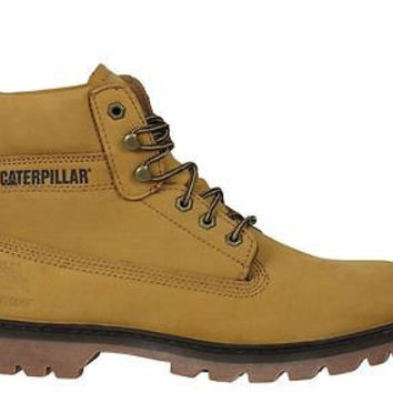 "Caterpillar Mens Boots 6"" Soft Toe Watershed WP Honey P717961"