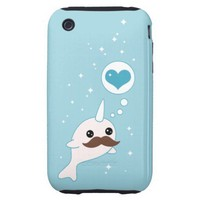 Mustache Narwhal Tough Iphone 3 Cases from Zazzle.com