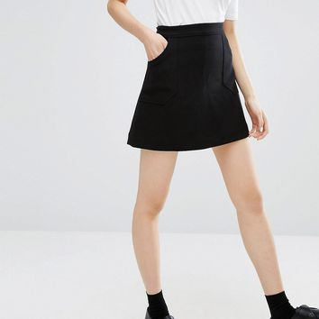 Monki A-line Pocket Skirt