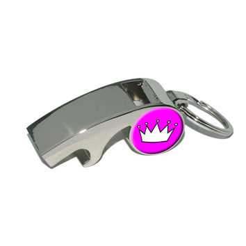 Princess Crown Tiara Whistle Bottle Opener Keychain