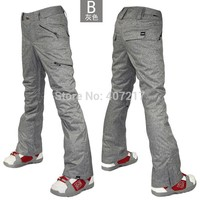2016 gsou snow womens gray ski pants female grey snowboarding sking riding cycling climbing snow pants waterproof top quality
