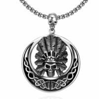 New Arrival Gift Jewelry Shiny Stylish Skull Pendant Hip-hop Men Necklace [10783254531]