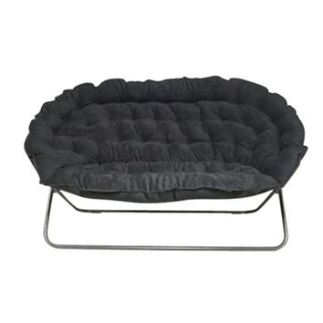 Papasan Dorm Sofa - Black- Dorm Room Furniture Dorm Chair For Two