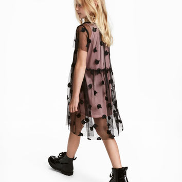 Mesh Dress with Appliqués - from H&M