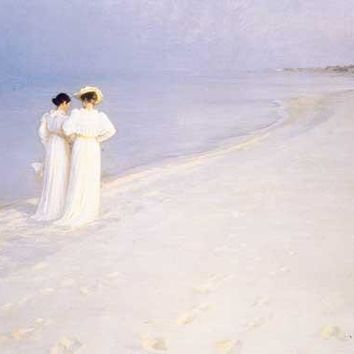 Summer Evening by Peder Kroyer Fine Art Print