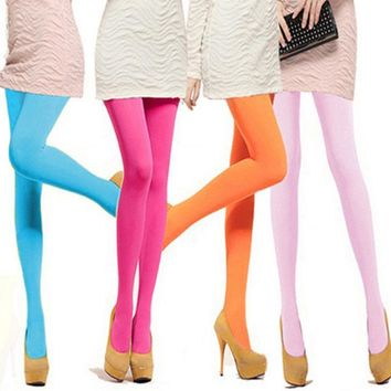 1 Pair Stylish Female 120D Sexy Nylon Opaque Footed Tights Stockings Step Foot Seamless Pantyhose Panties ACCESSORIES