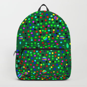 Colorful Rain 08 Backpacks by Zia