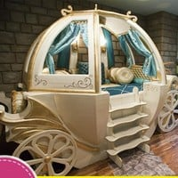 Custom Solid Cinderella Carriage Bed Children's Furniture