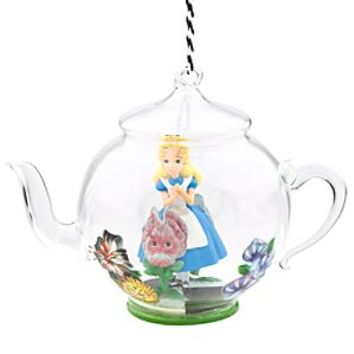 Alice in Wonderland Glass Teapot Ornament | Disney Store