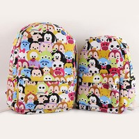 2017 tsum Mickey Minnie Canvas Shoulder Backpack Student Casual Bags Kids Travel Bags Mochila Feminina Bags