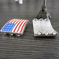 Rectangle American Flag Bracelet Pendant