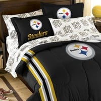 Pittsburgh Steelers 5-Piece Full Bed Set (Stl Team)