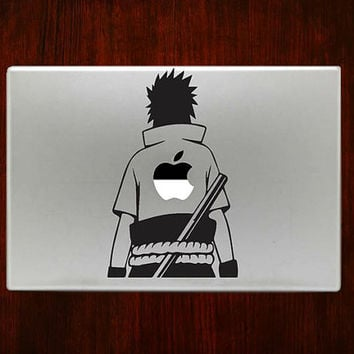 "Sasuke Uchiha Naruto m769 Design Decal Sticker Vinyl For Macbook Pro Air Retina 13"" 15"" 17"" Inch Laptop Cover"