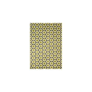 Abacasa Sonoma Apple Green Honeycomb Area Rug