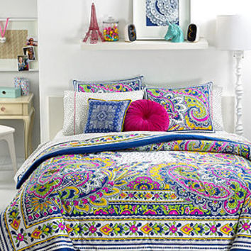 Teen Vogue Bedding, Pret-A-Paisley Comforter Sets - Teen Bedding - Bed & Bath - Macy's