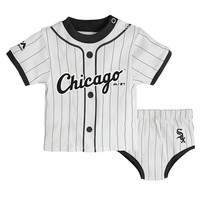 Majestic Chicago White Sox Little Player Tee & Diaper Cover Set - Baby