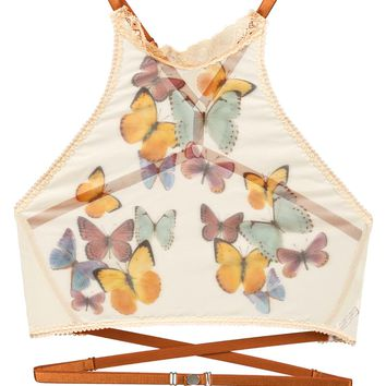 Butterfly Beauty Printed High Neck Cami - ALMOST SOLD OUT!