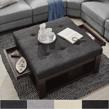 Lennon Espresso Square Storage Ottoman Coffee Table by TRIBECCA HOME | Overstock.com Shopping - The Best Deals on Coffee, Sofa & End Tables