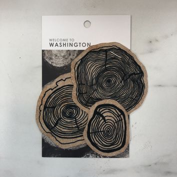 Washington Series Tree Slices Iron On Patch