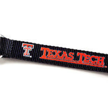 Texas Tech Red Raiders Lanyard Carabiner Keychain Keyring w/ Clip Licensed New