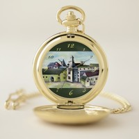 Liege, A Surreal Mystical Stone Castle - Panorama Pocket Watch