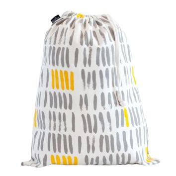 Vertical Strokes Drawstring Bag