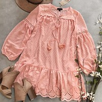 Ashter Lace Dress in Pink