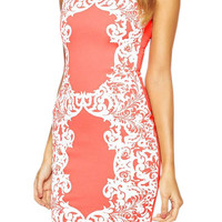 Pink Printed Mini Sleeveless Dress