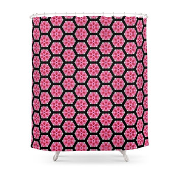 Society6 FRAGMENT DESIGN Flower From French Queyras M Shower Curtain