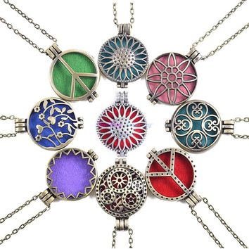 Aroma Diffuser Open Antique Vintage Locket, Pendant,  Perfume Essential Oil Aromatherapy Necklaces  With Pads