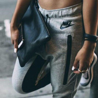 "Women Fashion ""NIKE"" Print Sport Stretch Pants Trousers Sweatpants"