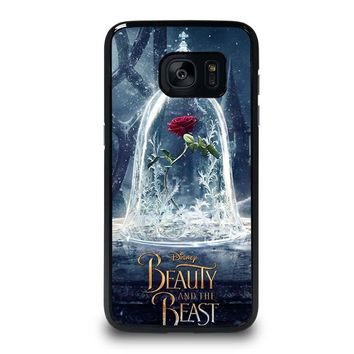 BEAUTY AND THE BEAST ROSE IN GLASS Samsung Galaxy S7 Edge Case Cover