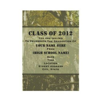 Camo Class Of 2012 Graduation Invitation from Zazzle.com