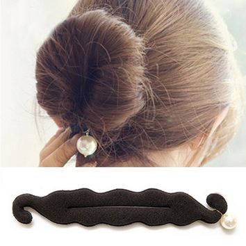 Magic Women 's Hair Band Tools Hair Styling Bun Hairpins Headwear Synthetic Pearls Sponge Hair Clip Hair Accessories For Women