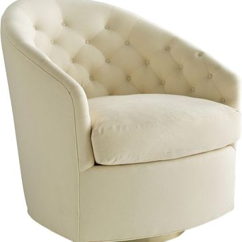 Capri Chair Muslin Champagne Swivel