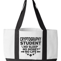 Cryptography Student Tote Bag Cryptology College Majors Cryptographic Degree Cryptography Bookbag