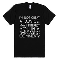 Advice-Unisex Black T-Shirt