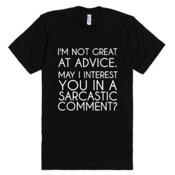 advice unisex black t shirt from skreened www glamfoxx 25668