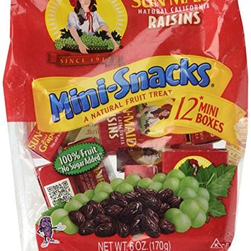 Sun-Maid California Raisins Mini Snacks Bags, 6 oz