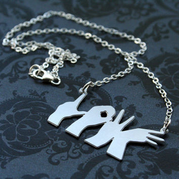 Love Hands Necklace by bLuGrnDesign on Etsy