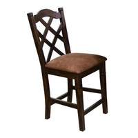 Sunny Designs Santa Fe Double Cross Back Barstool In Dark Chocolate