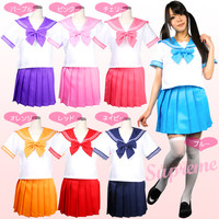 Japanese Japan School Girl Uniform Cosplay Costume Seven Color Customization