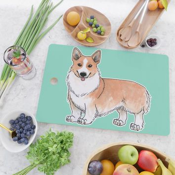 Pembroke Welsh Corgi dog Cutting Board by savousepate