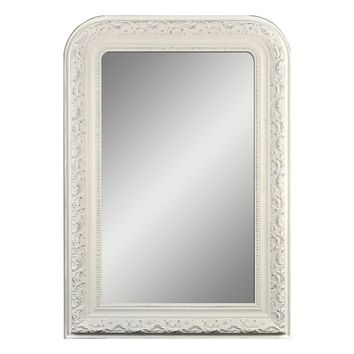 Belle Maison Arched Wall Mirror (White)